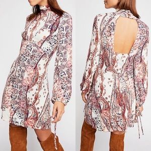 Free People All Dolled Up Turtleneck Mini Dress